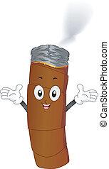 encendido, cigarro, humo, mascota