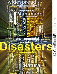 encendido, concepto, desastres, plano de fondo
