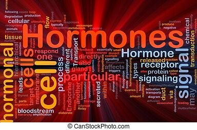 encendido, concepto, hormonal, plano de fondo, hormonas