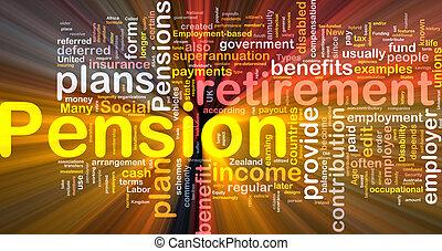 encendido, concepto, pensión, plano de fondo