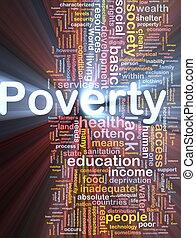 encendido, concepto, pobreza, plano de fondo