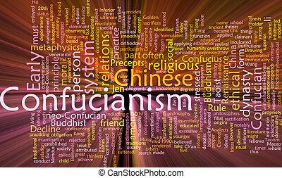 encendido, confucionismo, palabra, nube