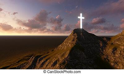 encendido, de madera, cruz