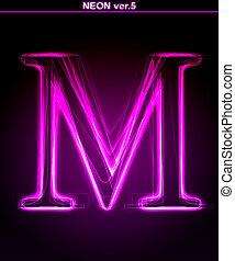 encendido, m., brillante, font., carta