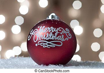 encendido, ornamento, árbol, navidad, Plano de fondo