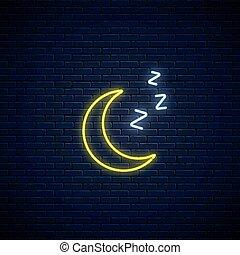 encendido, sueño, estilo, zzz, símbolo., pronóstico ...
