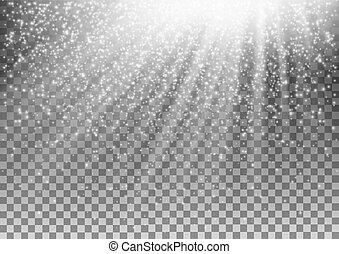 encendido, vector, fondo., efecto, transparente, luz