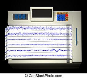 encephalogram - Encephalogram isolated on balck backdrop