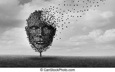 Encephalopathy and brain disease medical idea as an...