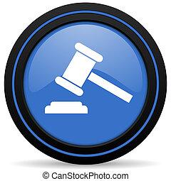 enchère, icône, tribunal, signe, verdict, symbole