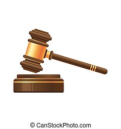 enchère, juge, marteau, marteau, ou, icône