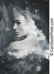 enchanted fairy portrait - fantasy fairy beautiful woman...