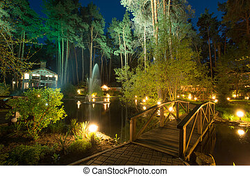 Enchanted house - Cozy resort by the lake in the conifer...