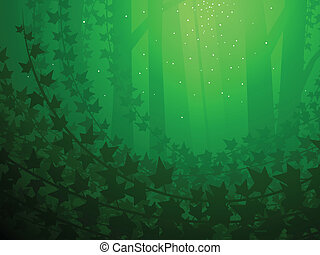 Enchanted ivy background - Enchanted forest and ivy grove...