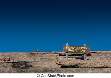 Enchanted Rock Summit Sign