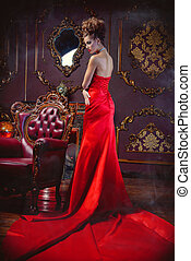 enchantress in red dress