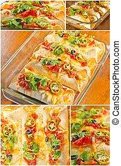 Enchilada Casserole Collage