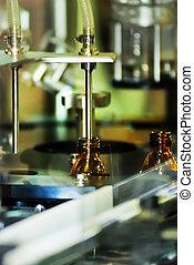 enchimento, máquina, para, a, indústria farmacêutica