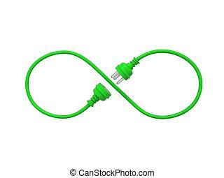enchufe, verde