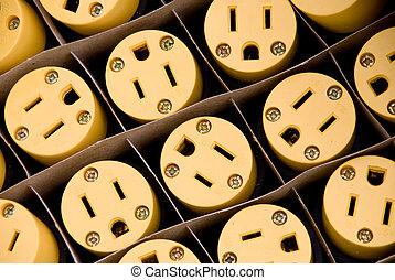 enchufes, eléctrico