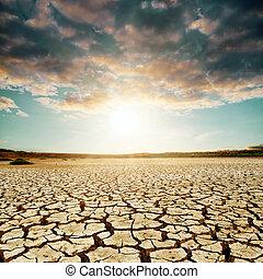 encima, bueno, ocaso, desierto