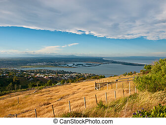 encima,  Christchurch, vista