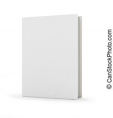 encima, cubierta, libro, plano de fondo, blanco, blanco