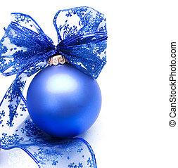 encima, pelota, navidad, blanco