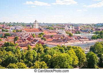 encima, vista, lituania, vilnius, capital