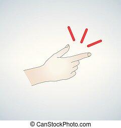encliqueter, doigts