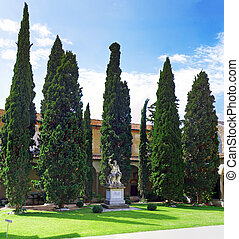Enclosed court of Basilica Santa Croce ,Florence