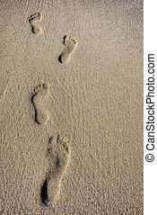 encombrements, sable, humain