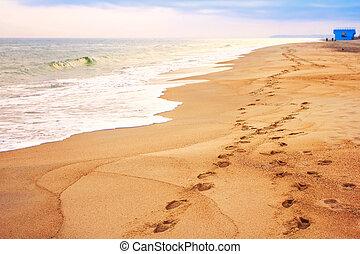 encombrements, sable plage