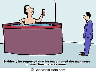 Encourage Managers to Relax