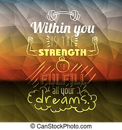 encourage quotes design, over colorful background, vector ...