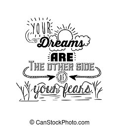 encourage quotes design, over white background, vector ...