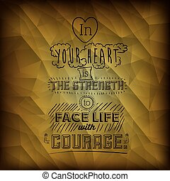 encourage quotes design, over yellow background, vector...
