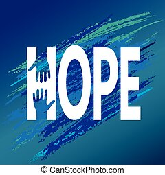 encouragement., サポート, 手, ベクトル, 教訓, 希望