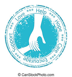 encouragement., stöd, fader, hand, barn, moral.