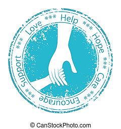 encouragement., unterstuetzung, vater, hand, kind, moral.