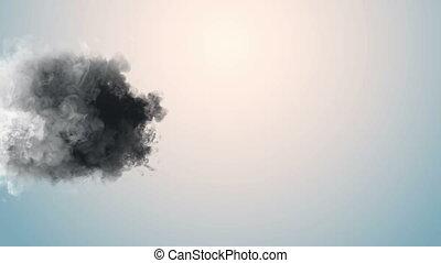 encre, fumée, macro, 4k, nuages, mouvement