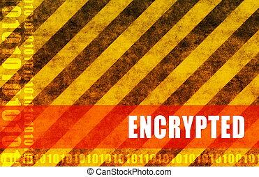 Encrypted Data System Program Transfer as Art