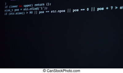 Encrypted fast long typing programming security hacking code...