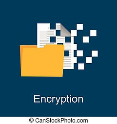 Encryption concept illustration. Flat design.
