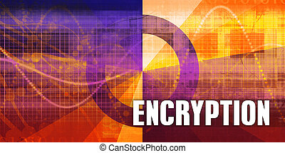 Encryption Focus Concept on a Futuristic Abstract Background