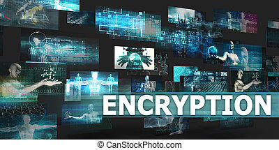 Encryption Presentation Background with Technology Abstract...