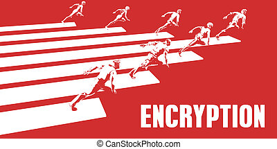 Encryption with Business People Running in a Path