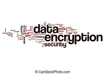 encryption, woord, data, wolk