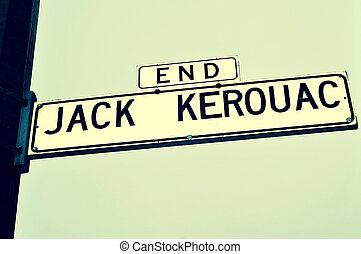 End Jack Kerouac street sign in San Francisco, United States