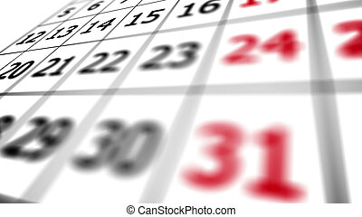 31st date on a calendar. - End of a month. 31st date on a...
